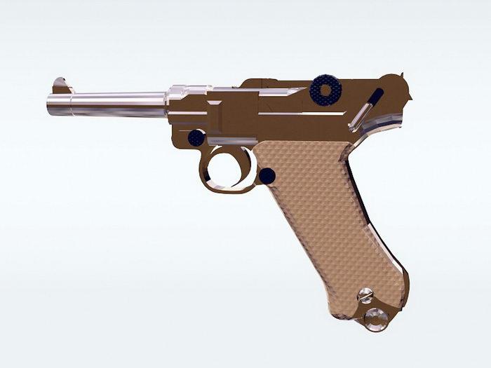 Luger Pistol 3d rendering