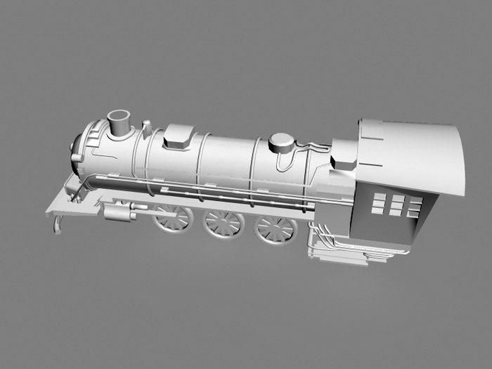 Steam Train Engineer 3d rendering
