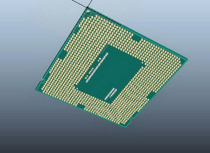Intel Core i7 CPU 3d rendering