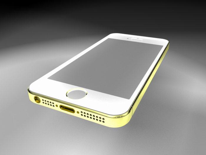 iPhone 5S Smartphone 3d rendering