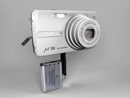 Olympus μ-760 Digital Camera 3d preview