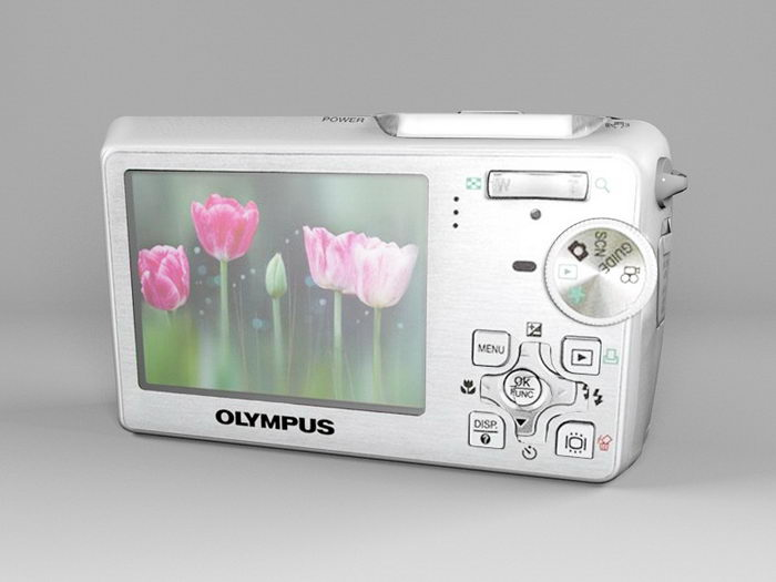 Olympus μ-760 Digital Camera 3d rendering