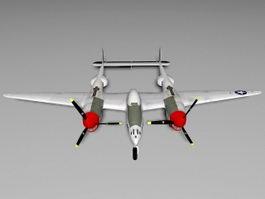WW2 P-38 Lightning 3d preview