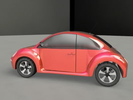 Classic Beetle Car 3d preview