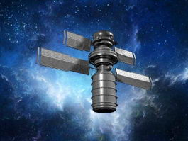 Space Satellite 3d preview