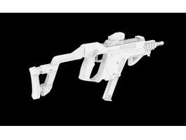 Kriss Vector Submachine Gun 3d model preview