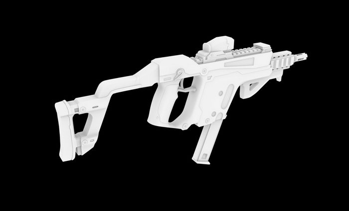 Kriss Vector Submachine Gun 3d rendering