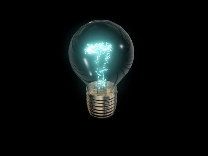 Incandescent Bulb 3d rendering