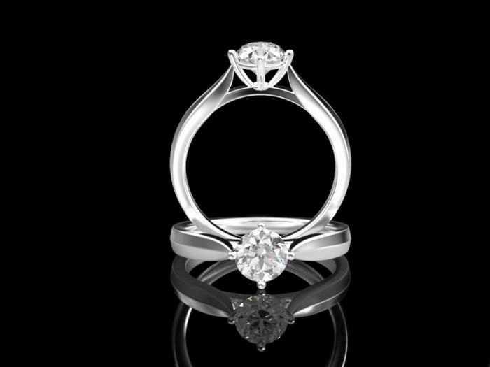 Diamond Engagement Rings 3d rendering