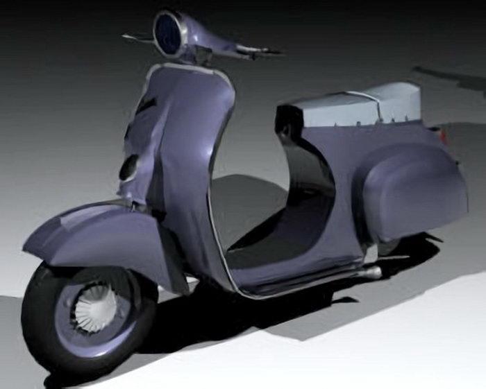 Classic Vespa Scooter 3d rendering