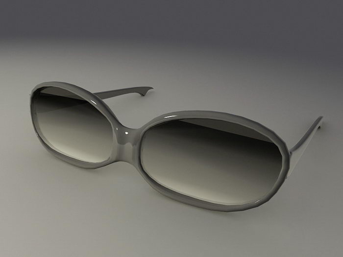 Black Sunglasses 3d rendering