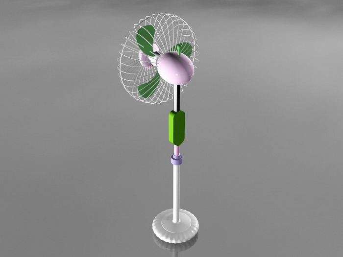 Electric Stand Fan 3d rendering