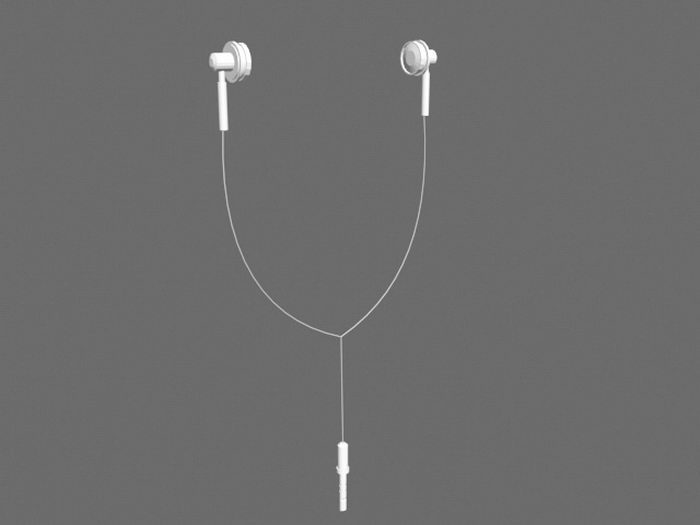 Old Earphones 3d rendering