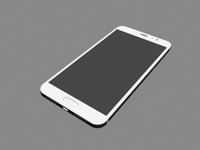 Xiaomi Smartphone 3d rendering