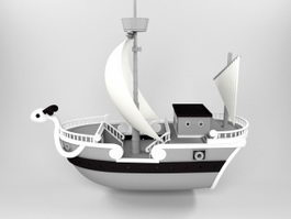 Going Merry Ship 3d preview