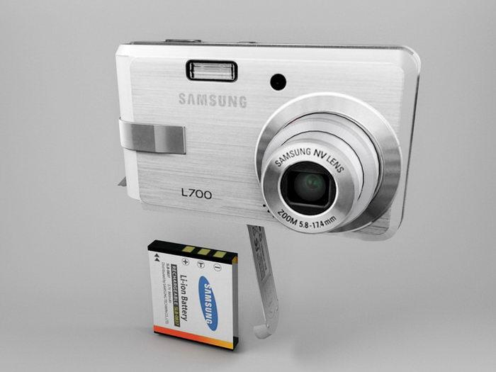 Samsung L700 Digital Camera 3d rendering