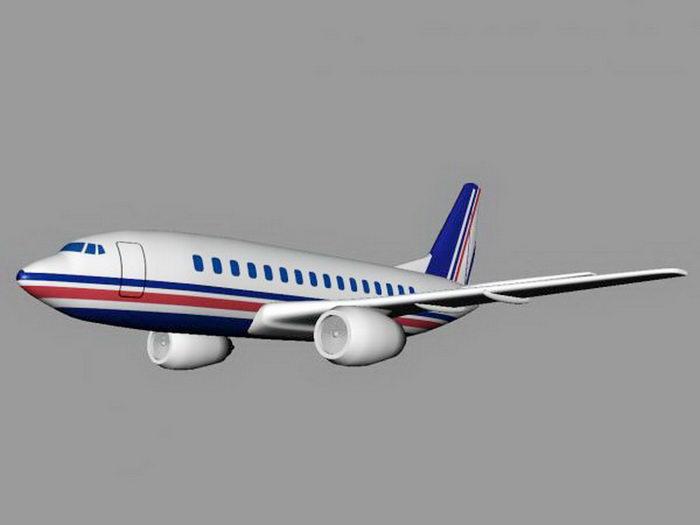 Jet Airplane 3d rendering