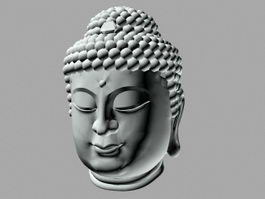 Buddhist Head 3d preview