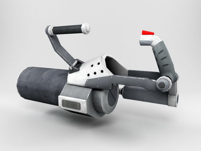 Futuristic Mortar Weapon 3d rendering