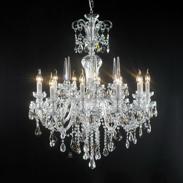 Classic Crystal Chandelier 3d rendering