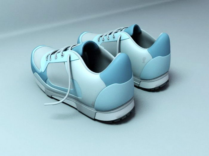 Light Blue Sneakers 3d rendering