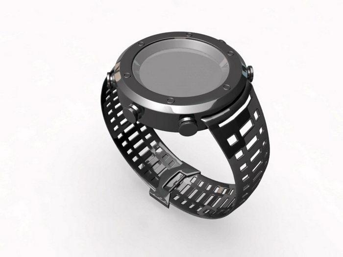 Black Sports Watch 3d rendering