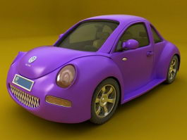 Volkswagen Beetle Purole 3d preview