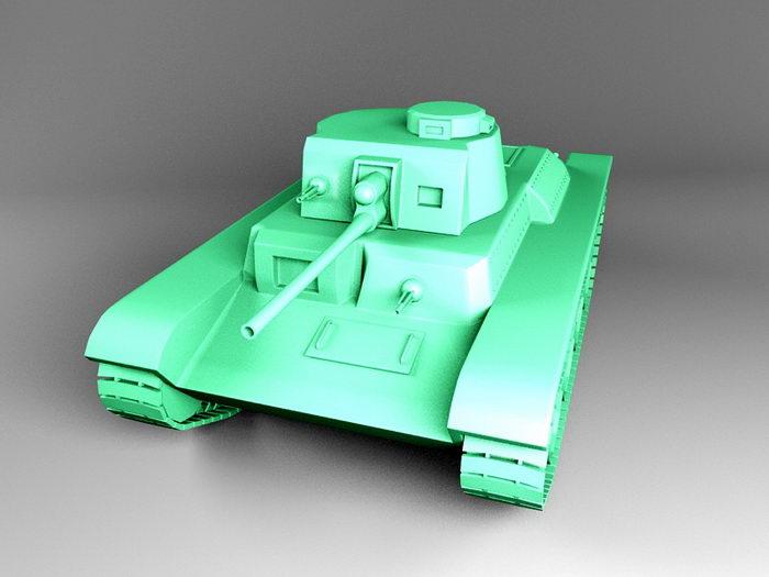 German Tank 3d rendering