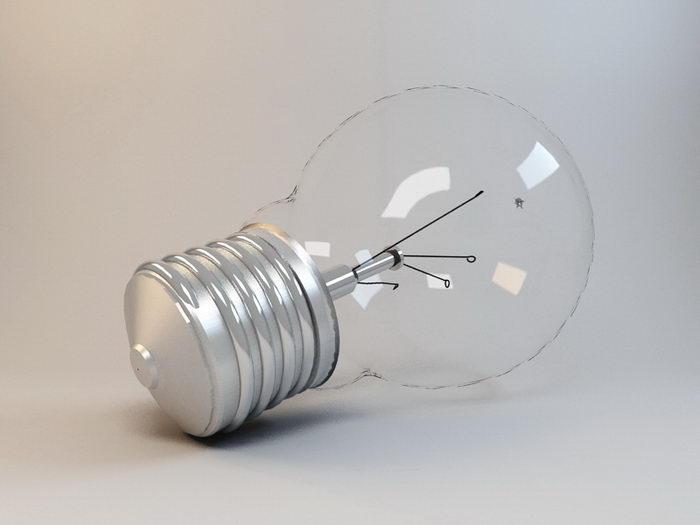 Incandescent Light Globe 3d rendering