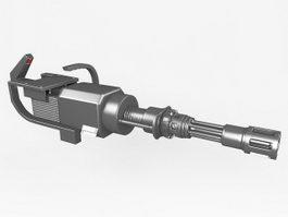 M134 Gatling Gun 3d preview