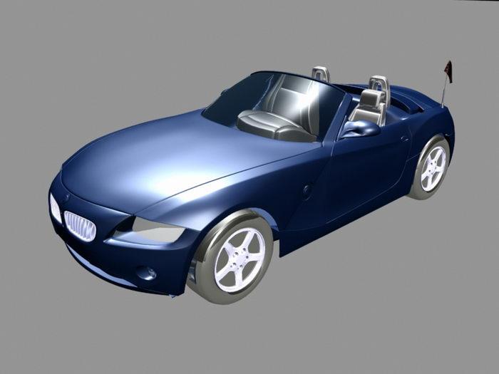 BMW Convertible 3d rendering