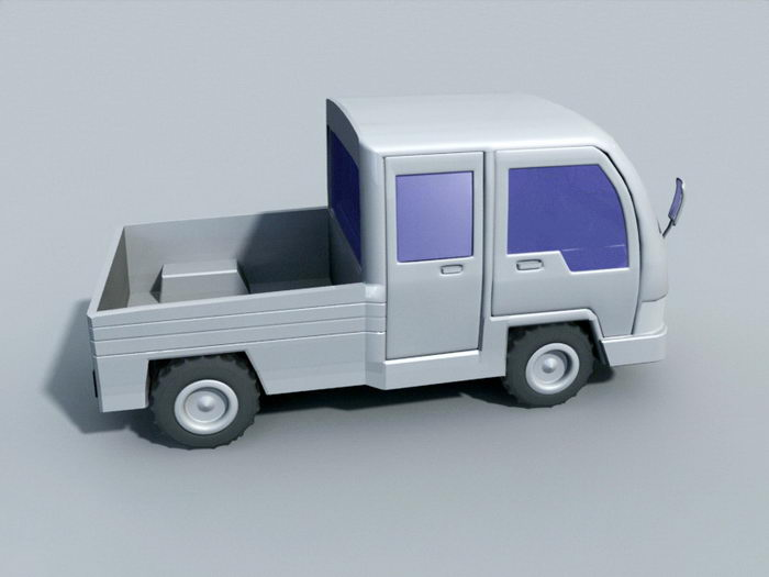 Small Pickup Truck 3d rendering