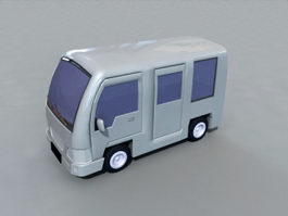 Cartoon Bus 3d preview