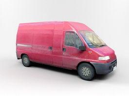 Red Van 3d preview