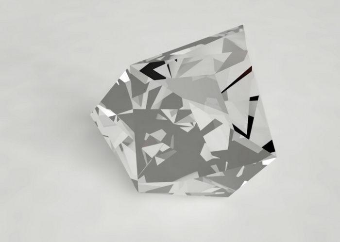 Rough Diamond 3d rendering