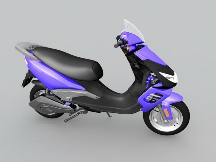 Electric Scooter 3d rendering