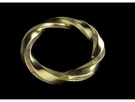 Gold Bracelet 3d preview