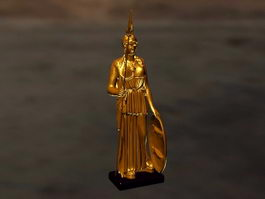 Athena Goddess Statue 3d preview