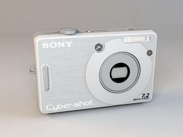 Sony Cyber-shot DSC-W55 Digital Camera 3d rendering