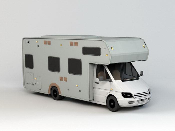 Campervan 3d rendering