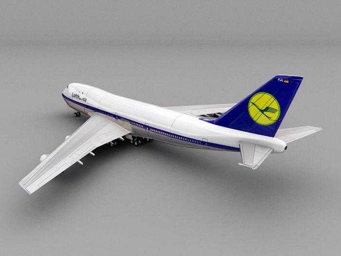 Boeing 747 Airliner 3d rendering