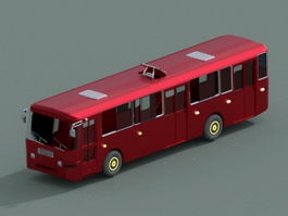 Red Bus 3d preview