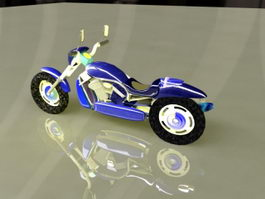 Blue Motorcycle 3d preview