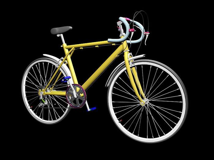 Road Racing Bicycle 3d rendering