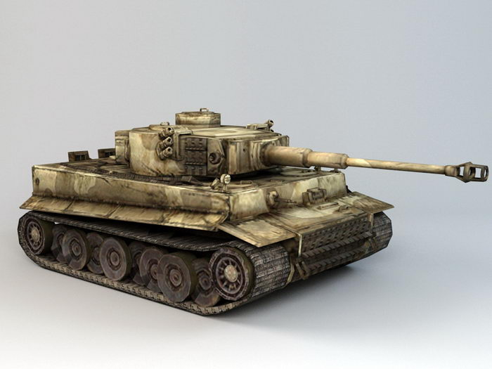Tiger Tank WW2 3d rendering