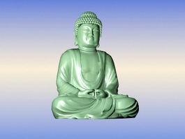 Sitting Buddha Statue 3d preview