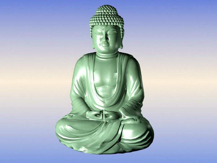 Sitting Buddha Statue 3d rendering
