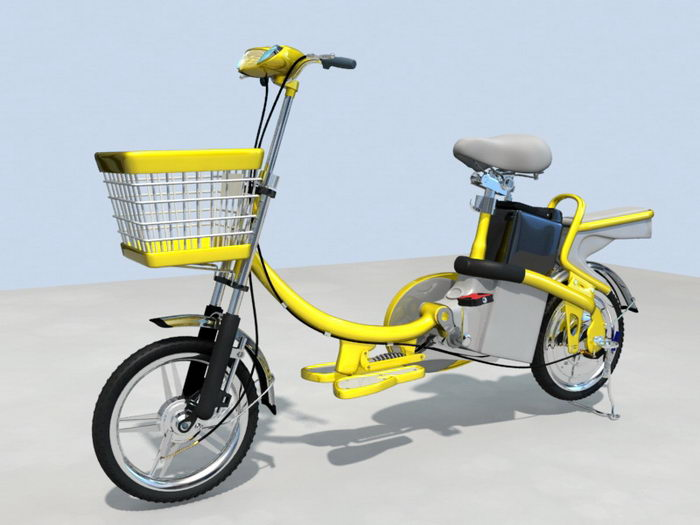 Electric Moped 3d rendering