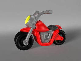 Mini Cartoon Motorcycle 3d preview