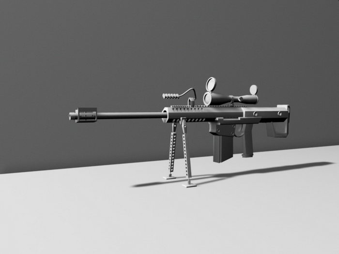 Army Sniper Rifle 3d rendering